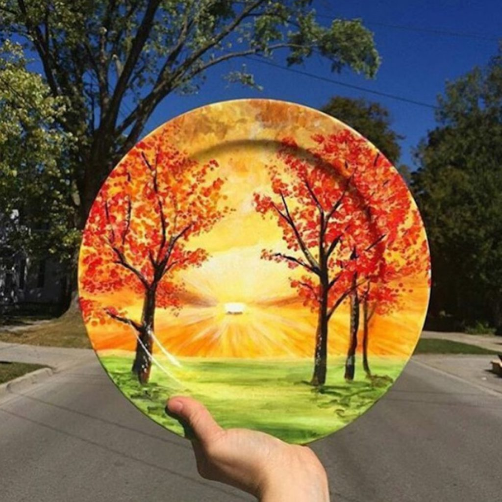 Hand Painted Plates by Jacqueline Poirier